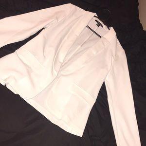 White long line blazer